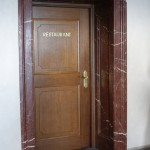 Marble-framed main door