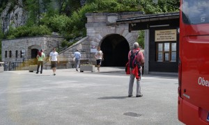 The Kehlsteinhaus Parkplatz, and the bus reservation booth